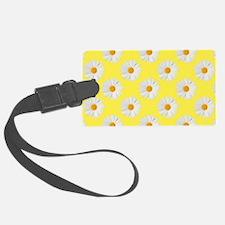 Daisy Flower Pattern Yellow Luggage Tag