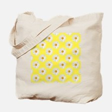 Daisy Flower Pattern Yellow Tote Bag