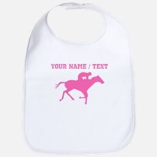 Pink Horse Racing Silhouette (Custom) Bib