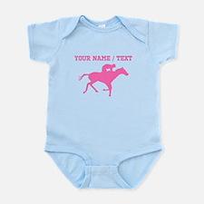 Pink Horse Racing Silhouette (Custom) Body Suit