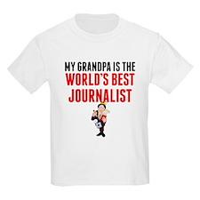 My Grandpa Is The Worlds Best Journalist T-Shirt