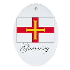 Gurnsey - Flag Oval Ornament