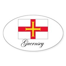 Gurnsey - Flag Oval Decal