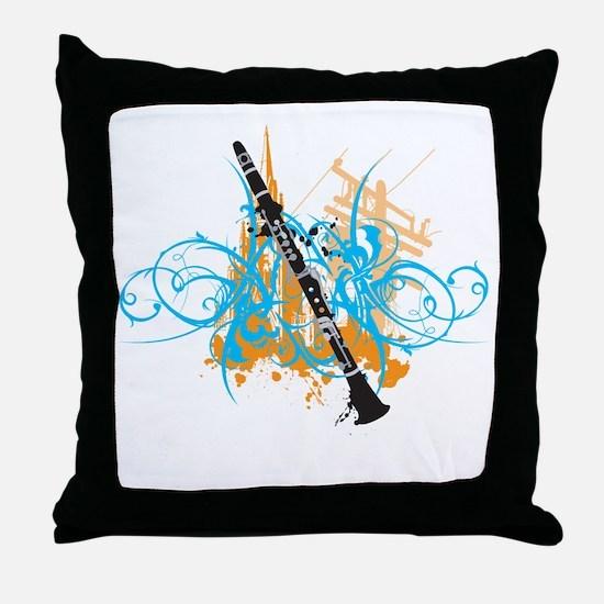 Urban Clarinet Throw Pillow