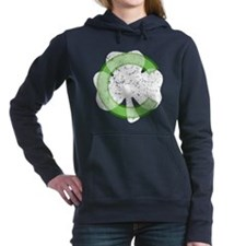 Vintage Chicago Irish Shamrock Women's Hooded Swea
