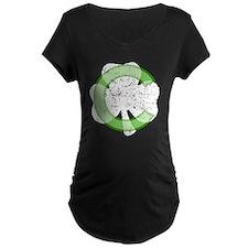 Vintage Chicago Irish Shamrock Maternity T-Shirt