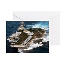 USS Kennedy Ship's Image Greeting Cards (Pk of 10)