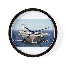 USS John Kennedy Ship's Image Wall Clock
