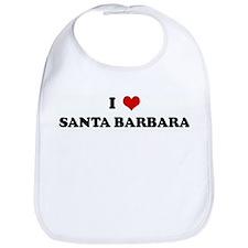 I Love SANTA BARBARA Bib