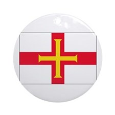 Gurnsey Flag Ornament (Round)