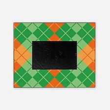 Green-Orange Argyle Picture Frame