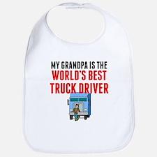 My Grandpa Is The Worlds Best Truck Driver Bib