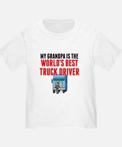 My Grandpa Is The Worlds Best Truck Driver T-Shirt
