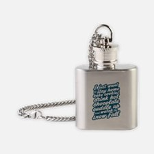 I Just Want To Stay Home Flask Necklace