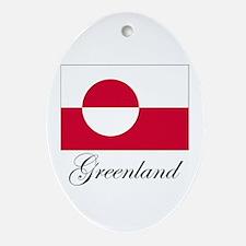 Greenland - Flag Oval Ornament