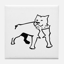 PITBULL OUTLINE Tile Coaster