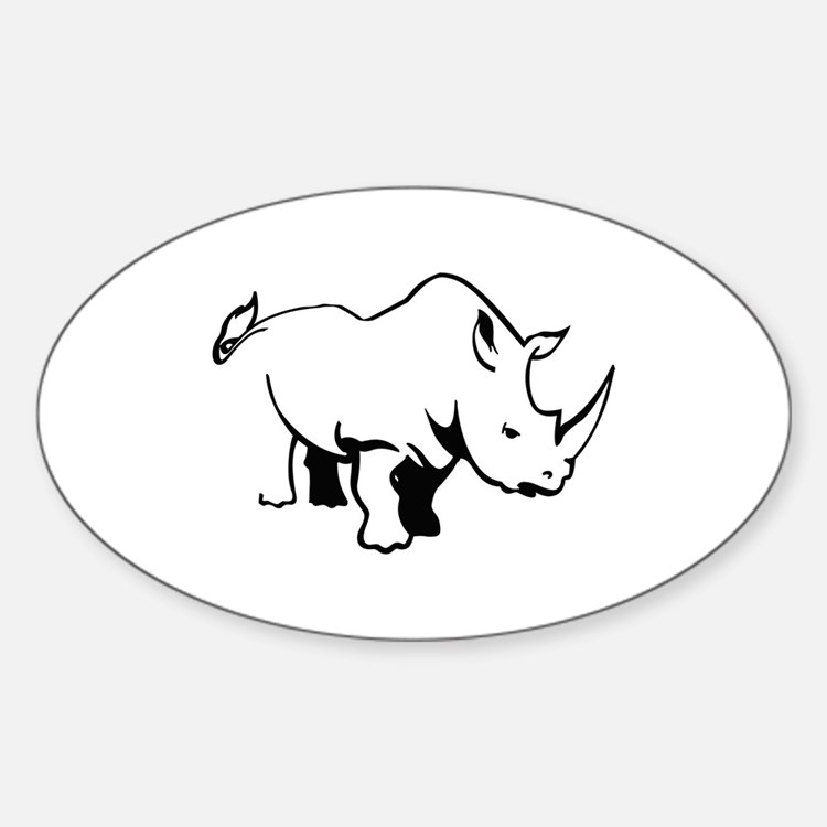 RHINO OUTLINE Decal