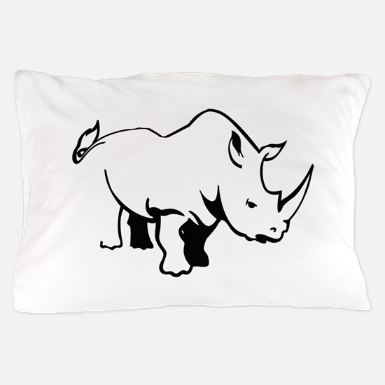RHINO OUTLINE Pillow Case
