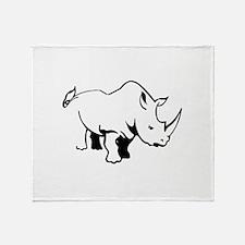 RHINO OUTLINE Throw Blanket