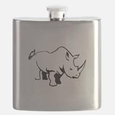RHINO OUTLINE Flask
