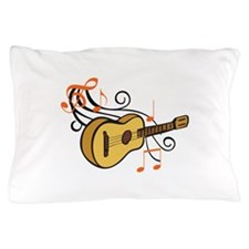 ACOUSTIC GUITAR AND MUSIC Pillow Case