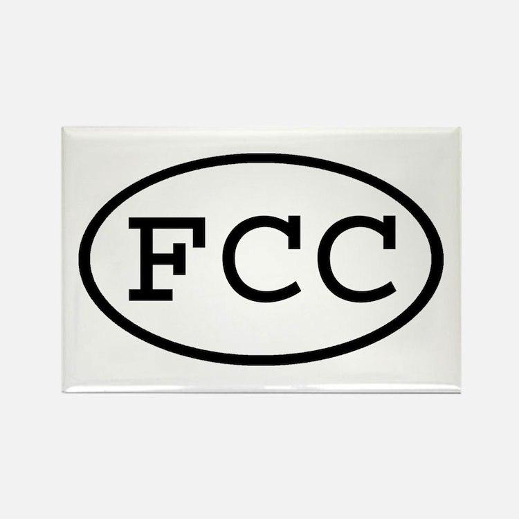 FCC Oval Rectangle Magnet