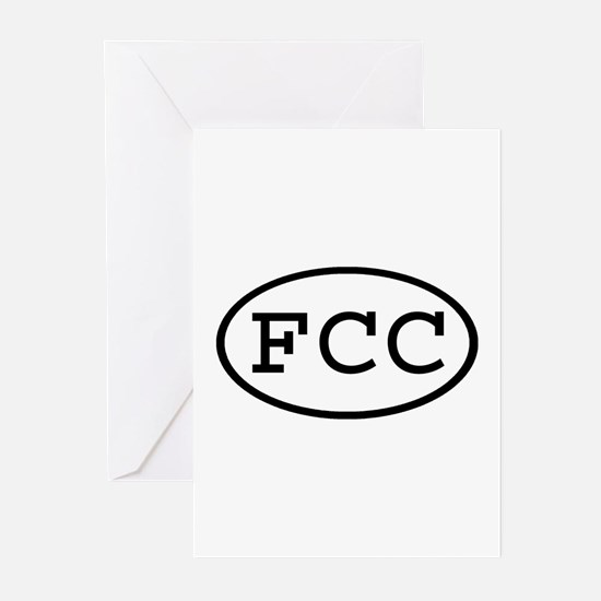 FCC Oval Greeting Cards (Pk of 10)