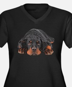 Colored Pencil Drawing Rotweiler Plus Size T-Shirt