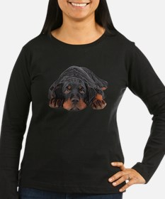Colored Pencil Drawing Rotweil Long Sleeve T-Shirt