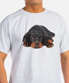Colored Pencil Drawing Rotweiler Puppy Eye T-Shirt