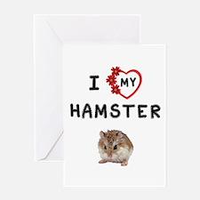 Love Hamster Greeting Card