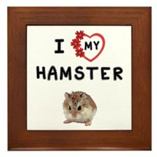 Love Hamster Framed Tile