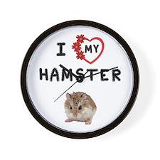 Love Hamster Wall Clock