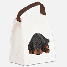 Colored Pencil Drawing Rotweiler Canvas Lunch Bag