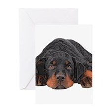 Colored Pencil Drawing Rotweiler Pu Greeting Cards