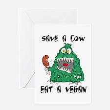 Cute Anti vegetarian Greeting Card