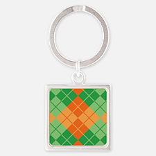 Green-Orange Argyle Keychains