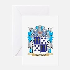 Santiago Coat of Arms - Family Cres Greeting Cards