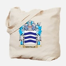 Santillo Coat of Arms - Family Crest Tote Bag