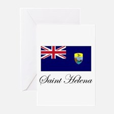 Saint Helena - Flag Greeting Cards (Pk of 10)