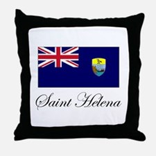 Saint Helena - Flag Throw Pillow