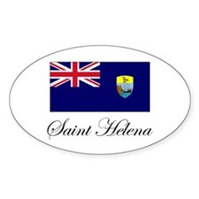 Saint Helena - Flag Oval Decal