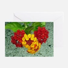 Red And Yellow Lantana #1 Greeting Cards