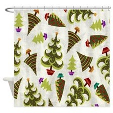 Christmas Trees Shower Curtain
