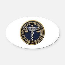 New York Medical Examiner Oval Car Magnet