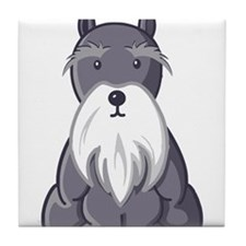 Andy Rooney Schnauzer Tile Coaster
