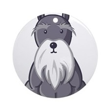 Andy Rooney Schnauzer Ornament (Round)