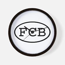 FCB Oval Wall Clock