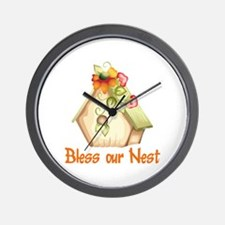BLESS OUR NEST Wall Clock