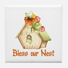 BLESS OUR NEST Tile Coaster